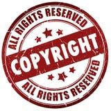 Schützen Sie Stempel urheberrechtlich Lizenzfreies Stockfoto