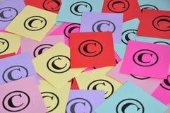 Schützen Sie Symbole urheberrechtlich Stockfoto