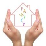 Schützen Sie Traumhaus Stockbild
