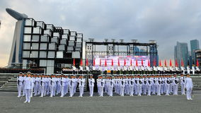 Schützen-von-Ehrekontingente, die zum Präsident begrüssen Lizenzfreies Stockfoto