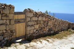 Schützende Grenze, Malta Stockbilder