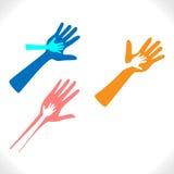 Schützende Hände Stockfotos