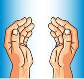 Schützende Hände des Glaubens Lizenzfreies Stockfoto