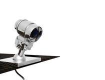 Schützende Kamera, getrennte Nachricht lizenzfreie abbildung