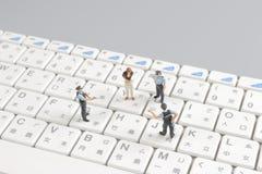 schützende Tastatur der Minifliegenklatschegruppe Stockbilder