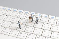 schützende Tastatur der Minifliegenklatschegruppe Lizenzfreie Stockfotografie
