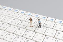 schützende Tastatur der Minifliegenklatschegruppe Stockbild