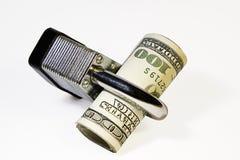 Schützendes Geld Stockfotos
