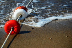 Schützendes Strandfloss Stockfoto