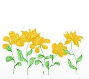 Sch?ne gelbe Fr?hlingsblumen Illustration eingeweiht dem Fr?hling lizenzfreie abbildung