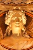 Sch?ne und antike Skulpturen und Fehlschl?ge in Monserrate-Palast stockfoto