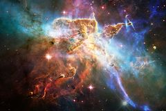 Sch?ner Galaxiehintergrund mit Nebelfleck, stardust und hellen Sternen lizenzfreies stockbild