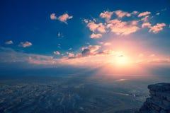 Sch?ner purpurroter Sonnenaufgang ?ber Masada-Festung lizenzfreies stockbild