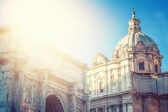 Schönes rom mit sonnenlicht Stock Photo