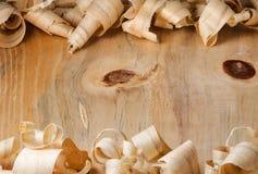 Schaafsel over een houten oppervlakteachtergrond Stock Afbeelding