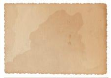 Schaaft het textuur oude document met sporen van en bevlekt Stock Foto's