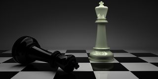 Schaak checkmate Het wit van de overwinning stock illustratie