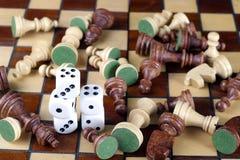 SCHAAK en kubus Stock Fotografie