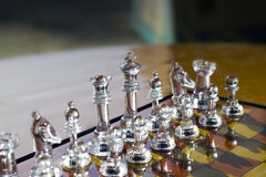 SCHAAK - Het spelen Royalty-vrije Stock Foto's