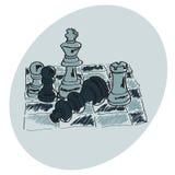 Schaak op een schaakbord Royalty-vrije Stock Foto