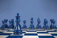 Schaak: strategie Royalty-vrije Stock Foto's