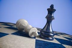 Schaak: winst Royalty-vrije Stock Afbeeldingen