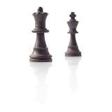 Schaak. Zwarte Koningin en Koning, leidingsconcept Stock Afbeelding