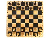 Schaakbord met schaak Stock Afbeeldingen