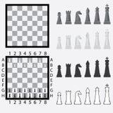 Schaakbord met schaakstukken. Stock Foto's