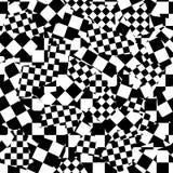 Schaakbord (naadloos vectorbehang) Stock Foto's