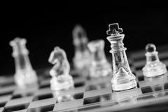 Schaakcijfer, bedrijfsconceptenstrategie, leiding, team en su Royalty-vrije Stock Foto's