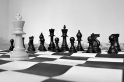 SCHAAKkoning ALLEEN OP DE SCHAAKraad Royalty-vrije Stock Afbeelding