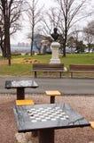 Schaaklijsten in de stad van Belgrado in Servië Royalty-vrije Stock Foto's