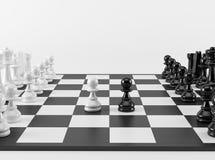 Schaakpand in Confrontatie Royalty-vrije Stock Foto