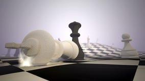 Schaakschaakmat stock illustratie