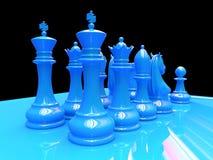 Schaakslag Royalty-vrije Stock Afbeelding