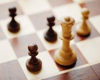 Schaakspel in actie Royalty-vrije Stock Afbeelding