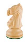 Schaakstuk - witte ridder Stock Afbeeldingen