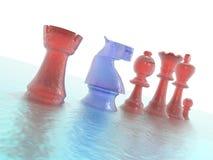 schaakstukkenclose-up stock illustratie