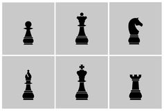 Schaakstukkenvector royalty-vrije illustratie