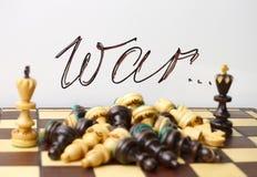 Schaaksymbolen van oorlog en dood Stock Fotografie