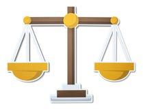 Schaal van het pictogram van de rechtvaardigheidsillustratie royalty-vrije illustratie