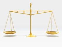 Schaal van Rechtvaardigheid Royalty-vrije Stock Foto