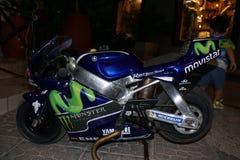 Schaalexemplaar van de motorfiets van Valemtino Rossi ` s stock foto's