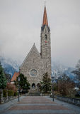 Schaan kościół Zdjęcia Stock