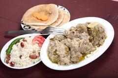 Schaap Yakhni, Kashmiri Stew van Vlees royalty-vrije stock foto