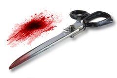 Schaar met bloed royalty-vrije stock afbeelding