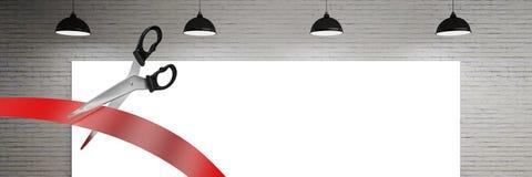 Schaar scherp lint met lichten stock afbeelding