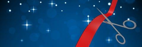 Schaar scherp lint met sterren stock illustratie