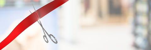 Schaar scherp lint met vage achtergrond royalty-vrije stock fotografie